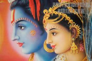 hindu poster rama sita shallow DOF landscape